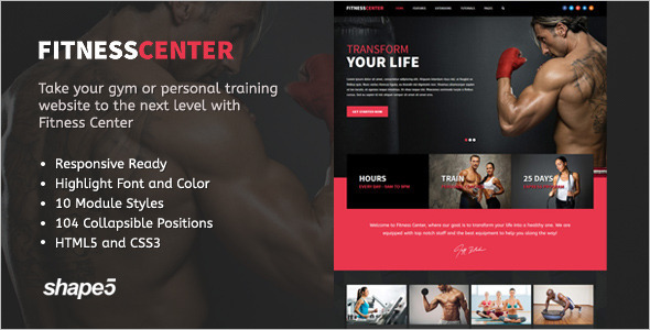 Reponsive Fitness HTML5 Template