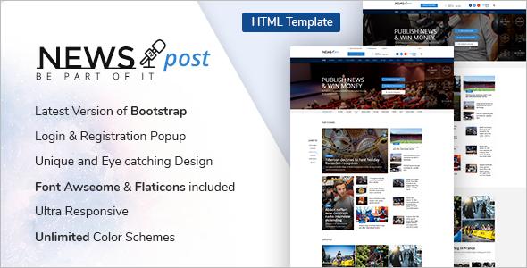 Responsive Blog HTML Template