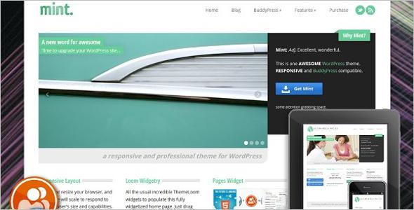 Responsive BuddyPress WordPress Theme