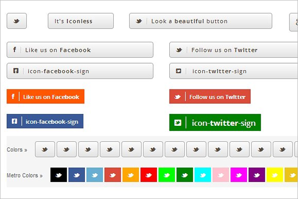 Responsive Button Template