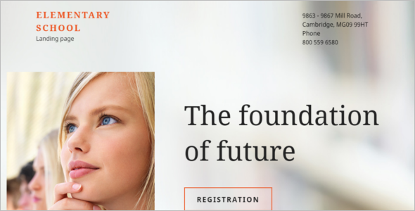 Responsive Education Landing Page Theme