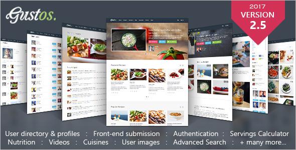 Responsive Recipes WordPress Theme