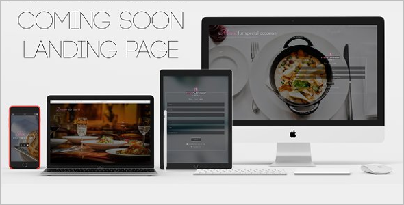 Restaurant Coming Soon HTML Template