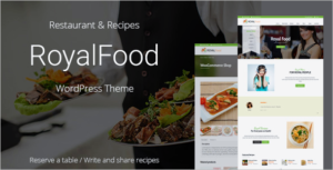 Restaurant Food Recipe WordPress Theme