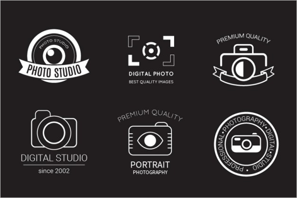 Retro Photography Badge Logo