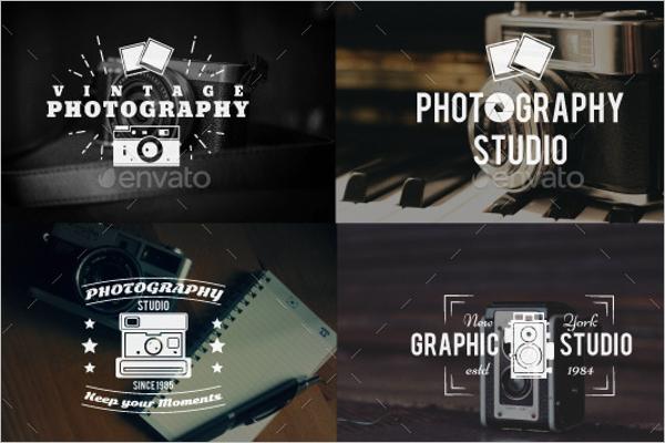 Retro Photography Badge Set