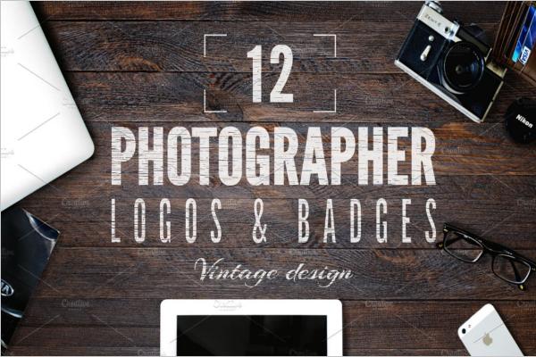 Retro Photography Badge Template