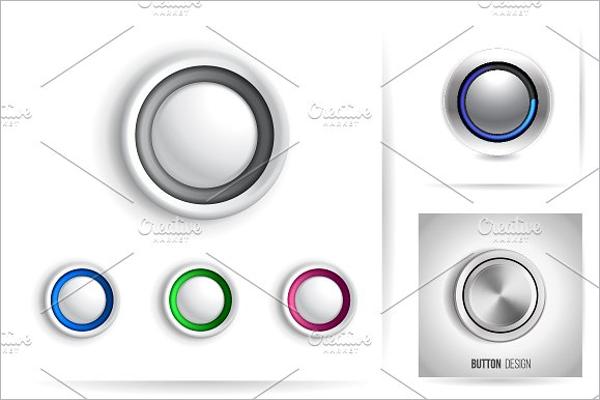 Round Web Button Template