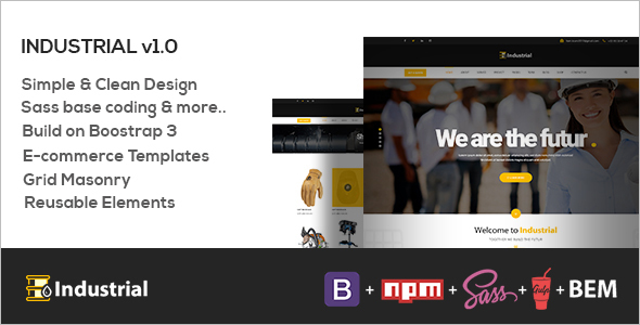 SEO HTML Industry Template