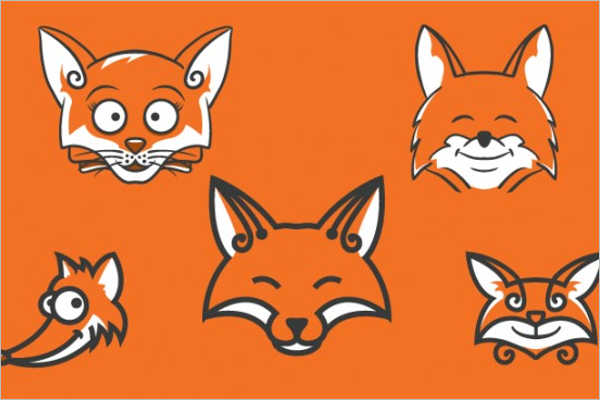Sample Animal Face Template