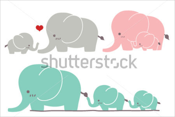 Sample Cartoon Elephant Template