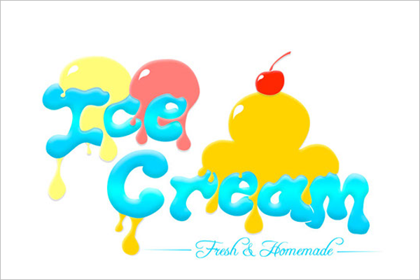 Sample Ice Cream Banner Design