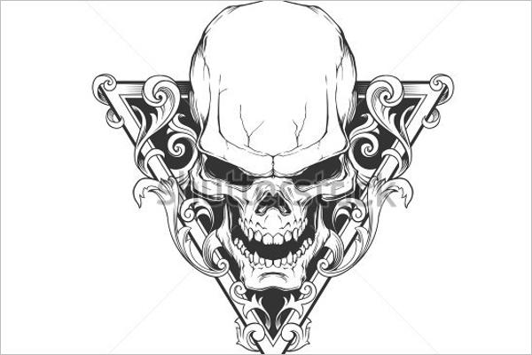 Sample Skull Tattoo Design