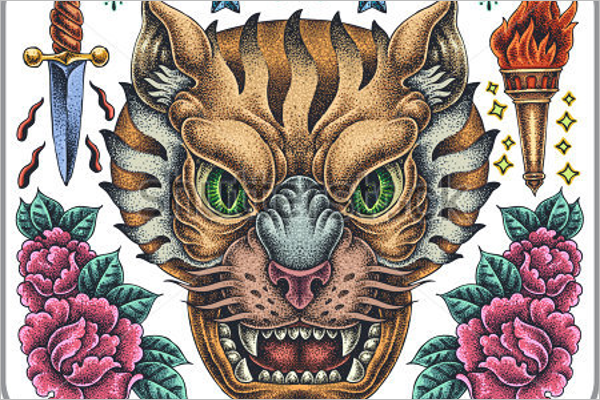 Sample Tiger Tattoo Design
