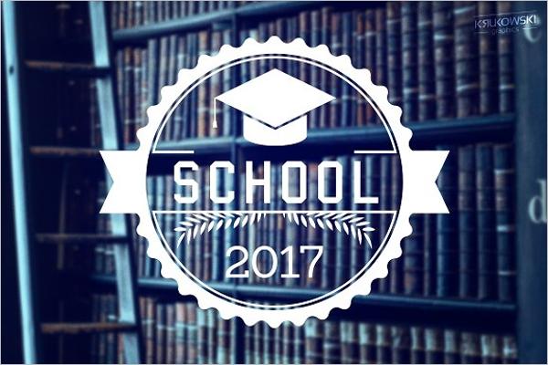 School Education Badge Design