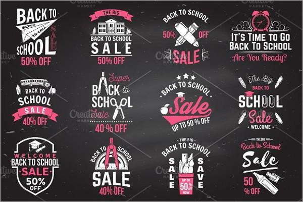 School Typography Badge Template