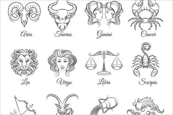 Scorpio Tattoo Graphic Design