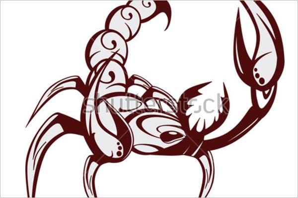 Scorpion Icon Tattoo Design