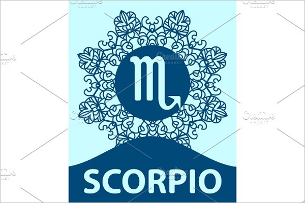Scropio Sign Tattoo Design
