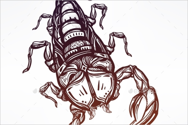 Scorpion Tattoo EPS design