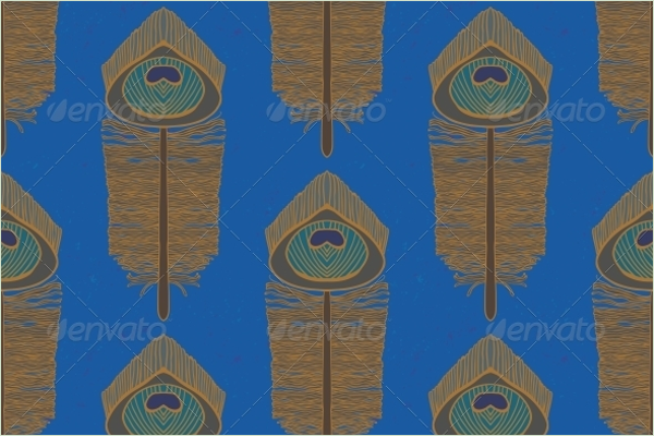 Seamless Peacock Vector Pattern