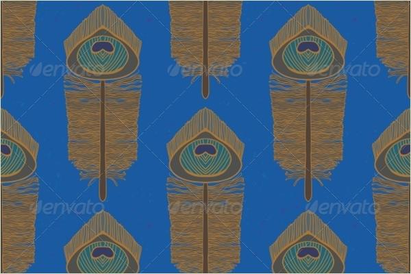 Seamless Peacock Vector Pattern