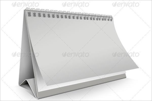 Simple Blank Desk Calendar Template