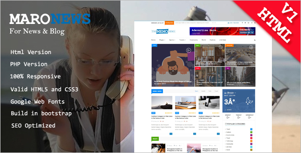 Simple Blogger HTML Template