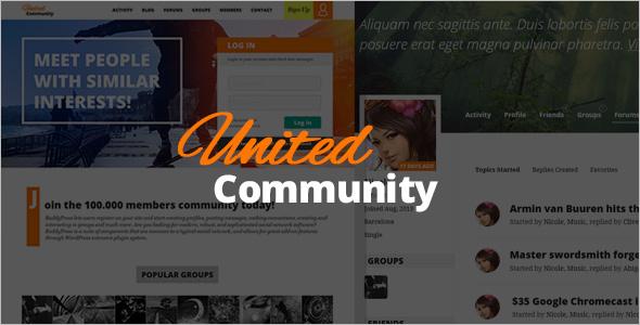 Simple BuddyPress Social Network Theme