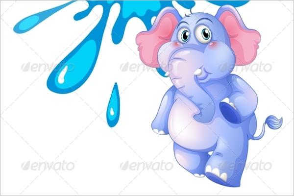 Simple Cartoon Elephant Design