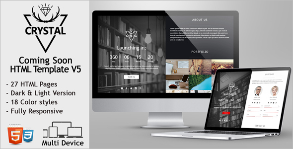 Simple Coming Soon HTML Template