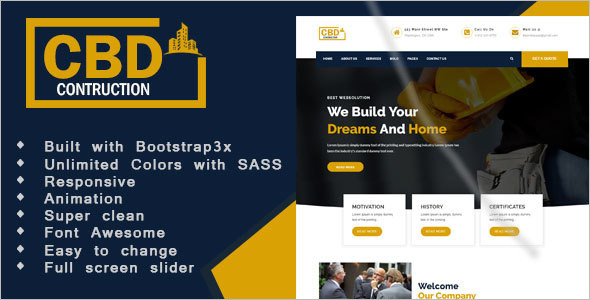 Simple Construction & Business HTML5 Template