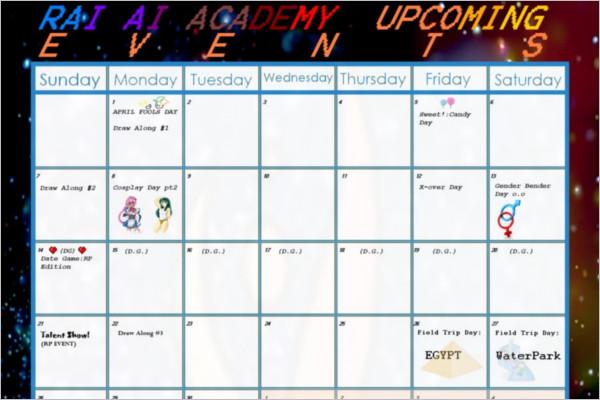 Event Calendar Templates Free  Premium Designs