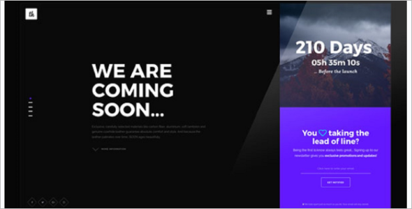 simple under construction html template - simple html coming soon template