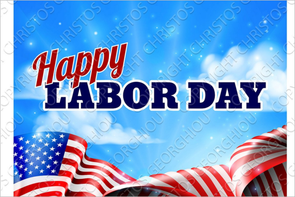 Simple Labor Day Banner Design