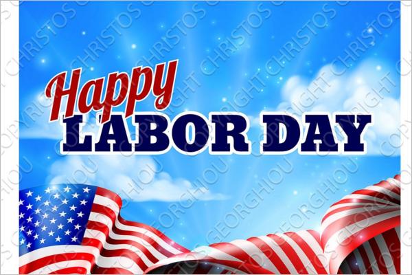 Simple Labor Day Banner Design