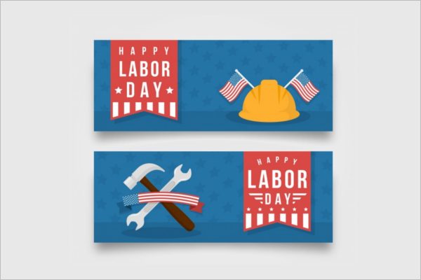 Simple Labor Day Banner Template