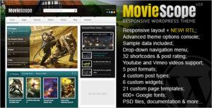Simple Movie Website WordPress Theme