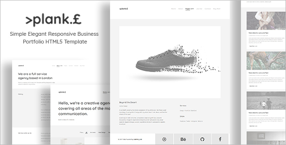 Simple Portfolio HTML Template