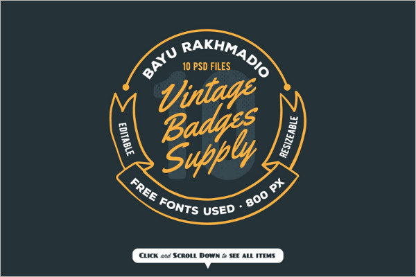 Simple Typography Badge Template