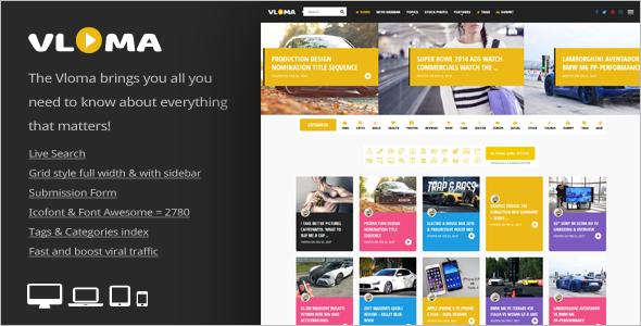Simple Video Blog WordPress Theme