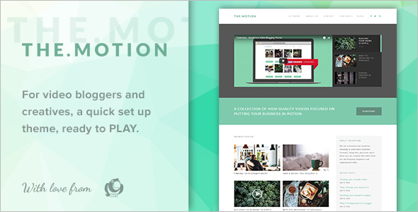 Simple Video Blogging WordPress Theme