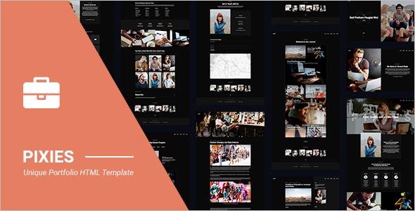 Single Page Portfolio Template