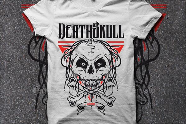 Skull Bones Tattoo Design