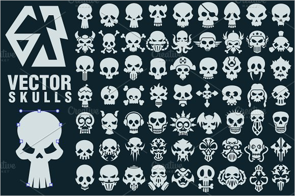 Skull Collection Tattoo Design