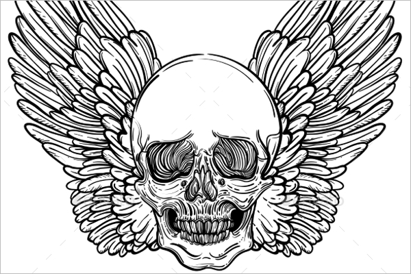 Skull Tattoo PSD Design