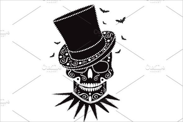 Skull Tattoo Symbol Design