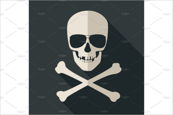 Skull and crossbones Vector Design