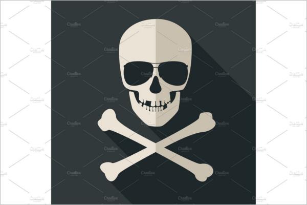 Skull and crossbones Vector Design