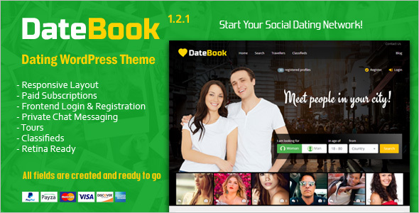 Social Dating WordPress Theme